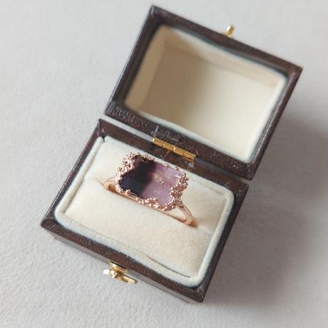 183R20 Silver(K18PGp) Ring (Biocolor Tourmaline)