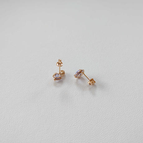 20P31 SV(K18Gp) Earrings (Tanzanite)