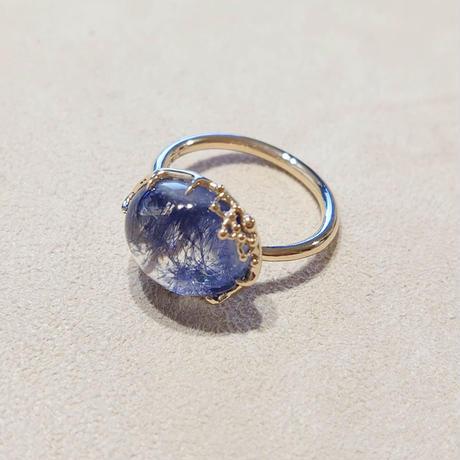 K10 Ring (Dumorchelite In Quartz)