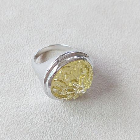 21R32 Silver(Rh) Ring (Lemon Quartz)