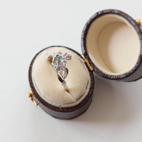 SV(Rh) Ring (BicolorTourmaline/Pinksapphire)