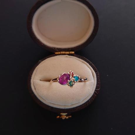 K10 Ring (Purple garnet)