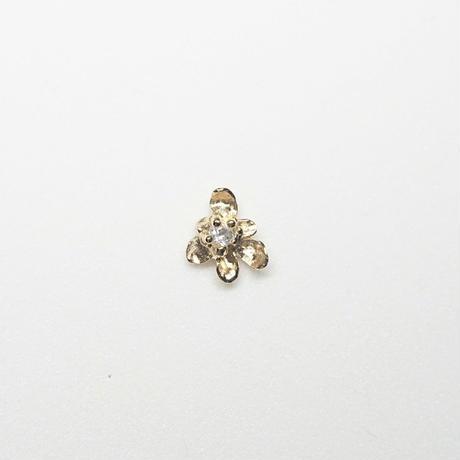 Silver(k18gp) Single earring (Fiore - Topaz)