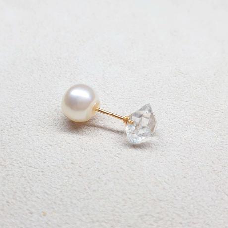 SV(K18Gp) Single Earring (Harkimer Quartz)