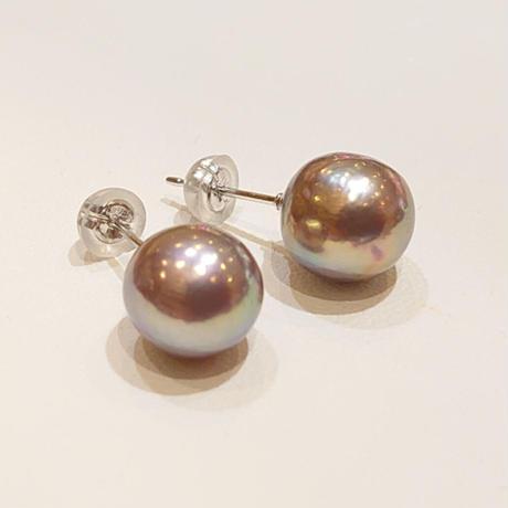 21P73 SV(Rh) Earrings (Freshwater pearl)