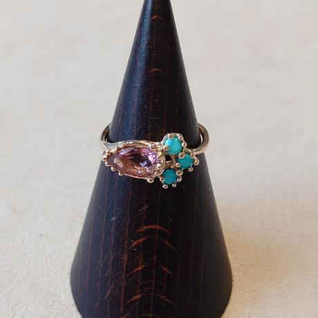 21R45 K10 Ring (Pink tourmaline)