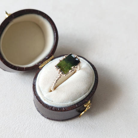 21R48 K10 Ring( Bicolor  tourmaline)