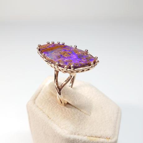 21R66 K10 Ring (Boulder Opal)