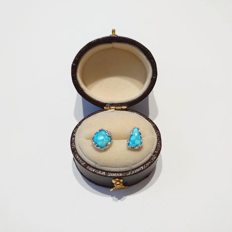 SV(Rh) Earrings (Turquoise)