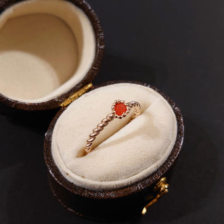 K10 Ring (Red coral)