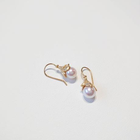 SV(K18Gp) Earrings (Akoya pearl)