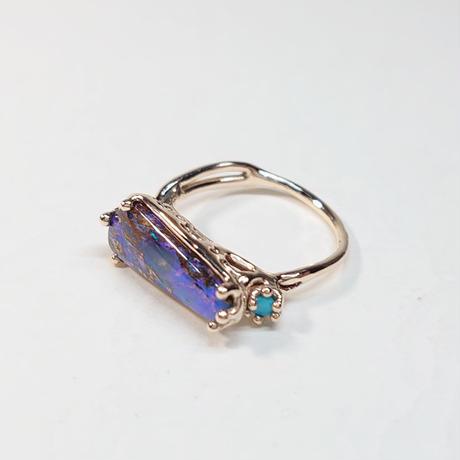 21R83 K10 Ring (Boulder Opal)