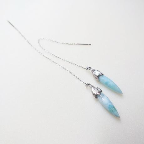 SV(Rh) Earrings (Larimar)