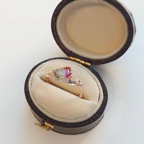 K10 Ring (Tricolor tourmaline)