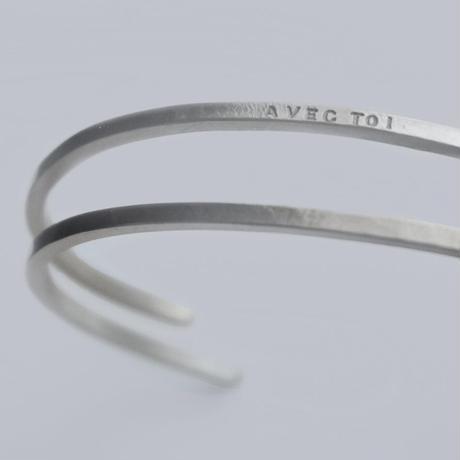 [両面刻印可能 ][華奢][silver925] [sterling silver] メッセージ刻印 バングル G2664S1210