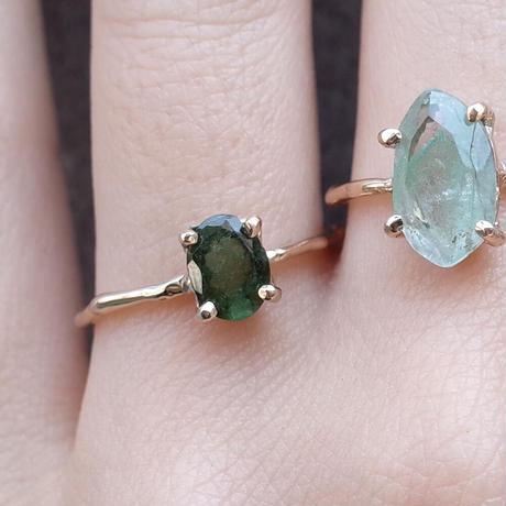 Charm Ring  №414 / Tourmaline