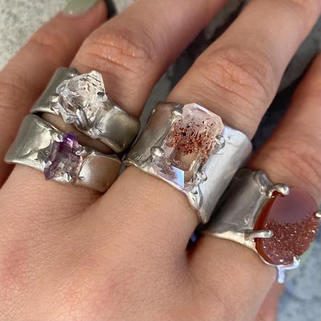 Charm Ring  №441 / Amethyst