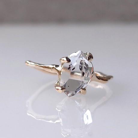 Charm Ring  №500 / Herkimer Diamond
