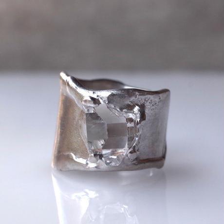 Charm Ring  №510 / Herkimer Diamond