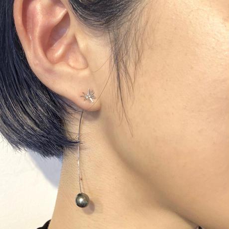 K18  Spark Slim  Curve (SS) ピアス