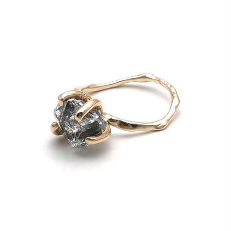 Charm Ring №53 / Herkimer Diamond