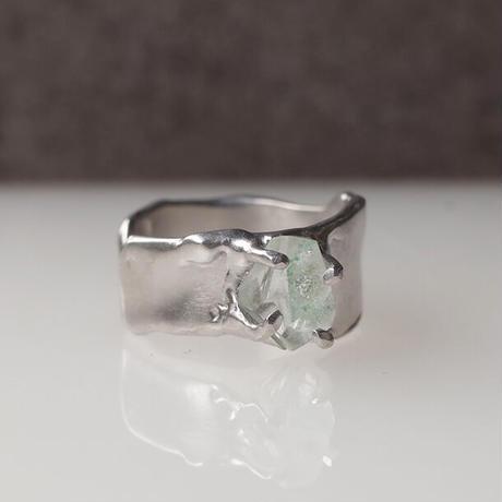 Charm Ring  №478/ Green Phantom Quartz