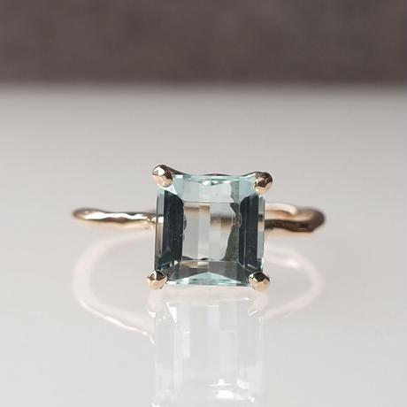 Charm Ring  №483 / Aquamarine
