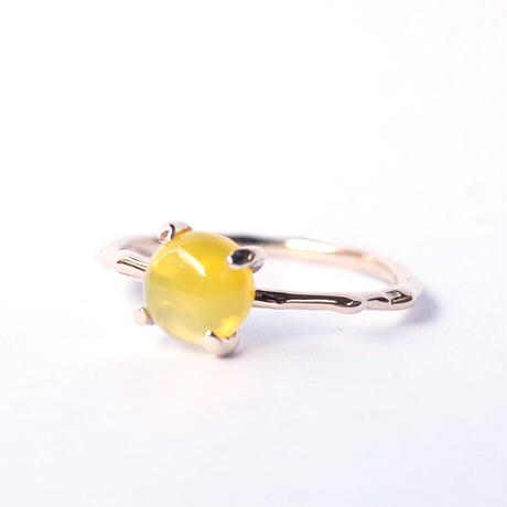 Charm Ring  №310 / Yellow Agate