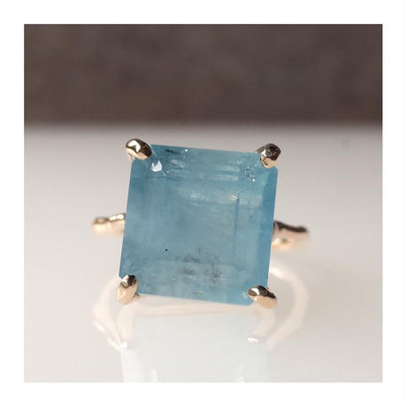 Charm Ring  №418 / Aquamarine
