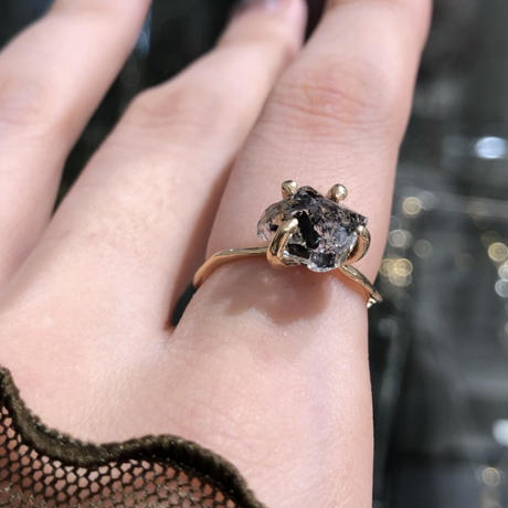 Charm Ring №53 / Herkimer Diamond