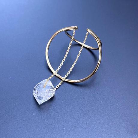 Wイヤカフ(M) ハーキマーダイヤモンド  K10