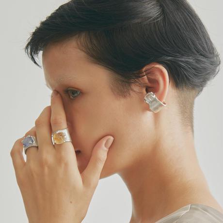 Charm Ring  №445 / Dumortierite in quartz