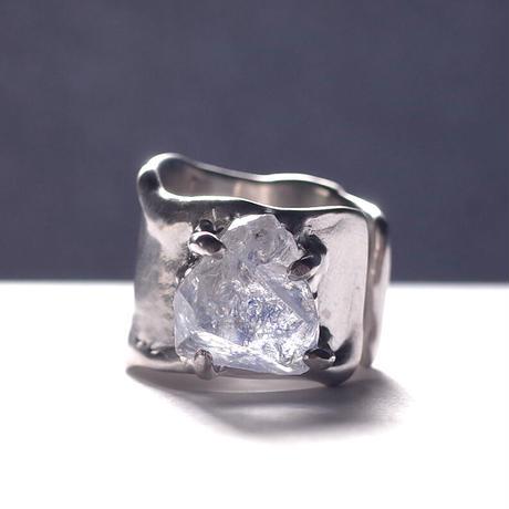 Charm Ring  №393 / Dumortierite in Quartz