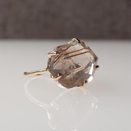 Charm Ring  №412 /Rutilated Quartz
