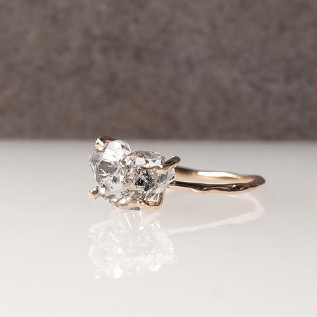 Charm Ring  №407 / Herkimer Diamond