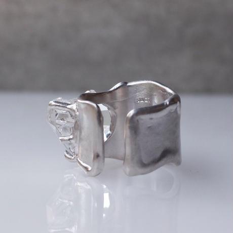 Charm Ring  №507 / Herkimer Diamond