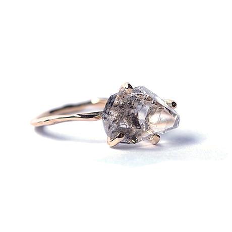 Charm Ring №264 / Herkimer Diamond