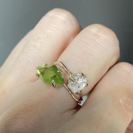 Charm Ring  №501 / Herkimer Diamond