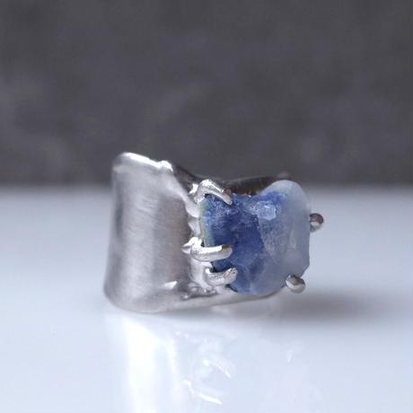 Charm Ring  №446 / Dumortierite in quartz