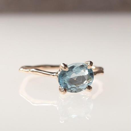 Charm Ring  №417 / Aquamarine