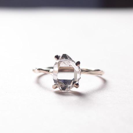 Charm Ring  №403 / Herkimer Diamond