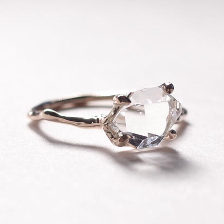Charm Ring  №402 / Herkimer Diamond