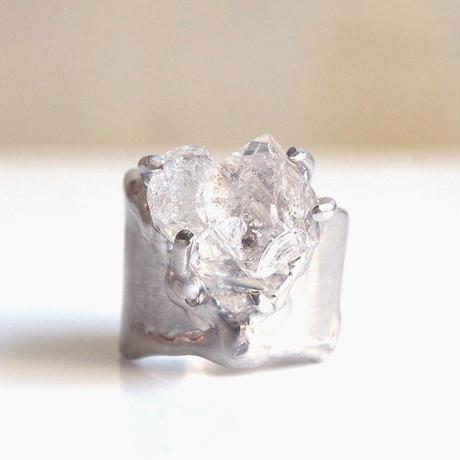 Charmリング №376 (ハーキマーダイヤモンド)