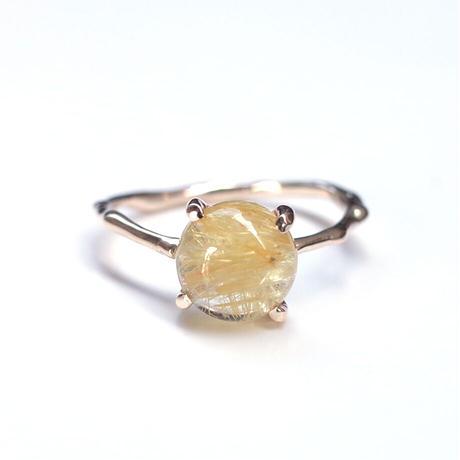 Charm Ring  №341 / Rutilated Quartz