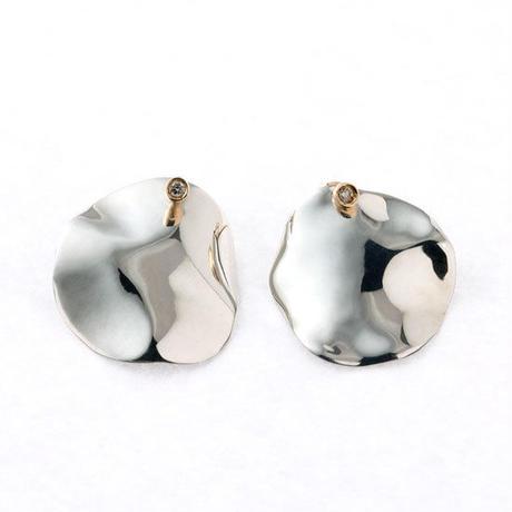 Flap (M )  イヤリング Silver