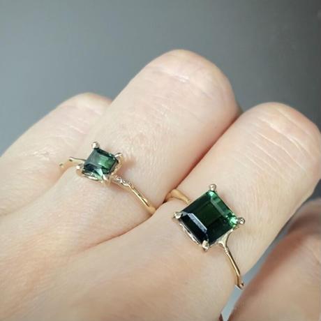 Charm Ring  №485 / Tourmaline