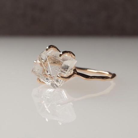 Charm Ring  №411 /Rutilated Quartz