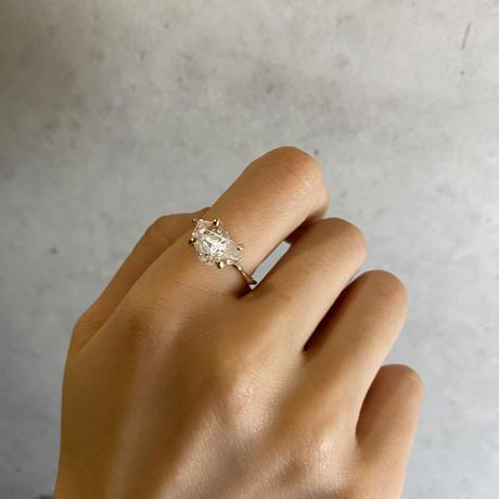 Charm Ring  №400 / Herkimer Diamond