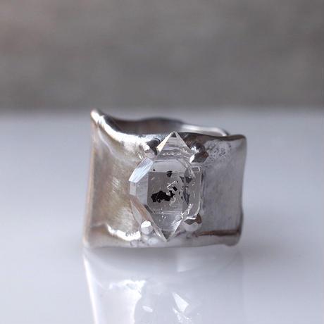 Charm Ring  №509 / Diamond Quartz