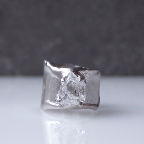 Charm Ring  №457 / Herkimer Diamond